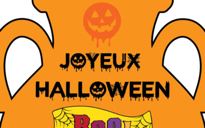 Coloriage alliant poterie et le thème d'Halloween